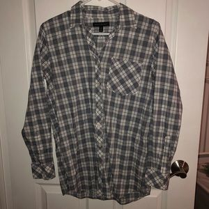 xs grey and white flannel